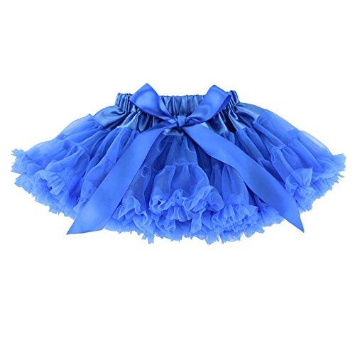 Wennikids Little Girl's Dance Chiffon Pettiskirts Tutu Assorted Size and Color Small Royal Blue