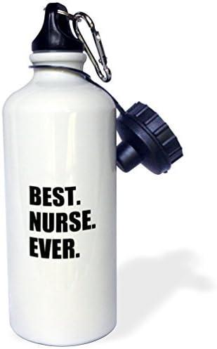 wenyige8216 Botella de Agua para Mejores Enfermeras y Deportivas, Color Blanco