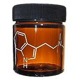Alder House Market 1 Ounce Amber Jar Engraved with