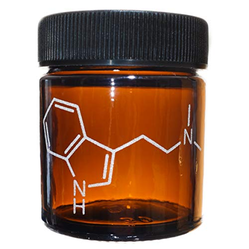 1 Ounce Amber Jar Engraved with Molecular Structure