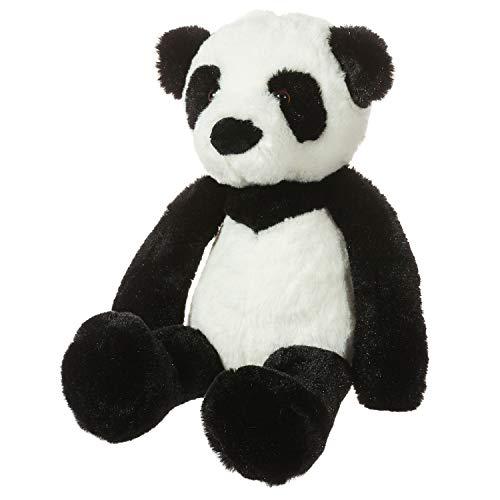 (CharaHome Plush Panda Bear Stuffed Animal, Soft Cuddly, Black and White, Perfect for Girls Boys Newborn,10'')