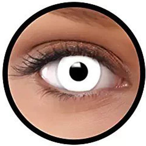 Women Multi-Color Cute Charm and Attractive Fashion Contact Lenses Cosmetic Makeup Eye Shadow Zombie (Cos Pure White) by SenseValue for $<!--$3.99-->