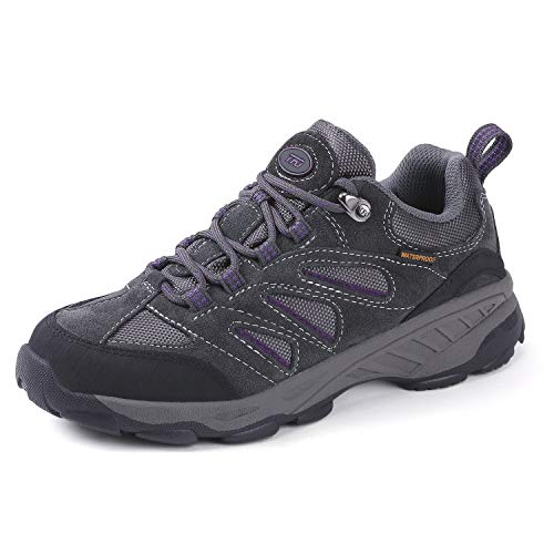 (TFO Women's Air Cushion Hiking Shoes Breathable Running Outdoor Sports Trail Trekking Sneakers (9, Gray1))