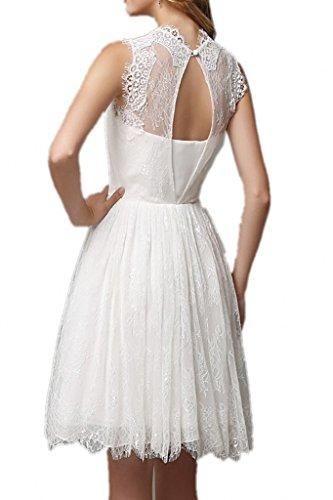 Promgirl House - Robe - Trapèze - Femme blanc weiß