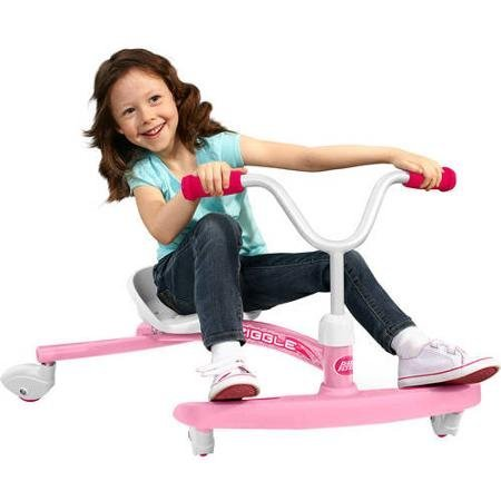 Radio Flyer Ziggle Ride On, 360 Degree Spinout Action and Adjustable Seat Grows with Child