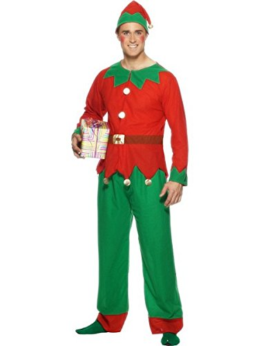 Elf Costume - Large - Chest Size 42-44 (Elf From Santa Clause)