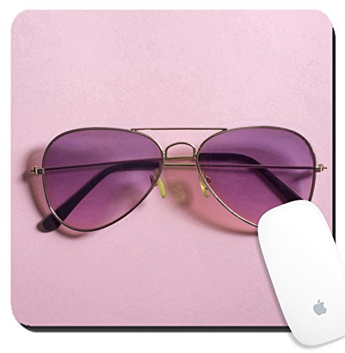 Luxlady Suqare Mousepad 8x8 Inch Mouse Pads/Mat design IMAGE ID: 34657978 Pink aviator - Aviator Sunglas