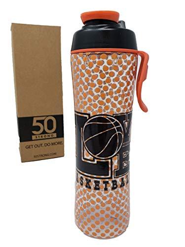 (24 30 oz Sports Water Bottle w/ Basketball, Football, Baseball, Softball, Soccer, Tennis & Hockey Designs - Perfect Bottles for Boys, Girls, Sport Team, Players, & Coaches (Love Basketball, 24)