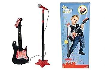 Simba 106833223 Musik & Instrumente My Music World Gitarre mit Standmikrofon 70-130 cm