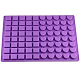 Gathere 80-Cavity Square & Heart Shape Silicone Molds for Making Homemade Chocolate Caramel Candy Gummy Jelly Ganache Baking Mould