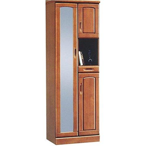ハイシューズボックス 下駄箱 幅60cm×奥行40cm×高さ180cm 木製 棚板付き 日本製 ブラウン 【 完成品 】 大川家具 B01M8NRWCL
