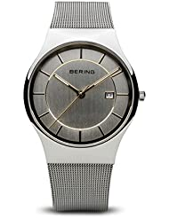 BERING Time 11938-001 Mens Classic Collection Watch with Mesh Band and scratch resistant sapphire crystal. Designed...