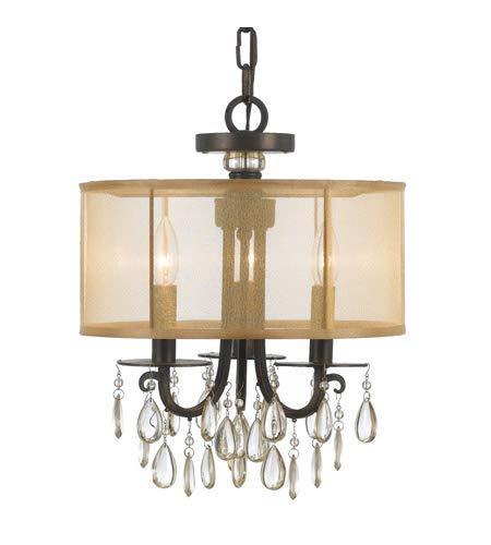 Amazon.com: Mini lámparas de araña 3 lámparas con acabado en ...