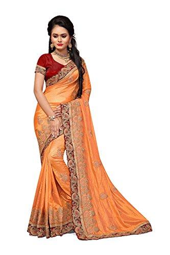 Le Etnico Color Rajasthani 7 Facioun Del Traditional Da Orange Arancione 7 Da Sari Sarees For Sari Colore Donne Women Per Indiani Rajasthan Indian Facioun Tradizionali Sari Ethnic ZY1q8