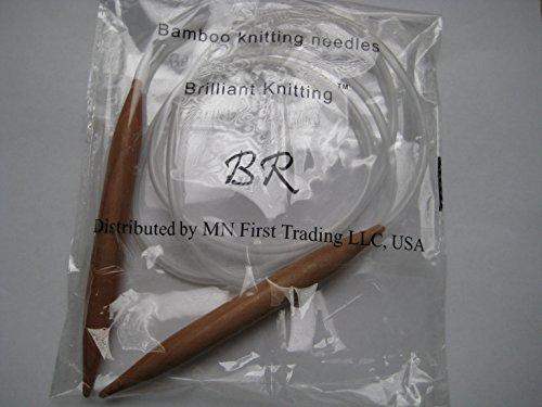 Bamboo Circular Knitting Needles Size US 19 (15 mm) BrilliantKnitting (BR brand), length 29