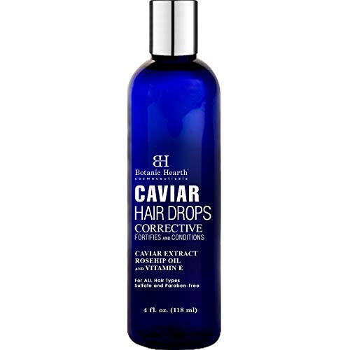 Botanic Hearth Caviar Corrective Hair Drops, Leave-in Deep Conditioner Hair Oil Nourishes and Restores Shine, Controls Frizz, for All Hair Types, 4 fl oz