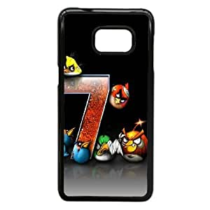 Samsung Galaxy S6 Edge Plus case,Samsung Galaxy S6 Edge Plus Cell phone case Black Angry-Birds-Game-PUU4937261