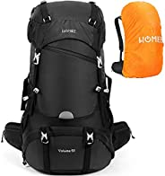 HOMIEE 50L Hiking Travel Camping Backpack for Outdoor, Waterproof Lightweight