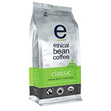 Ethical Bean Coffee Classic Medium Roast, Whole Bean, 12-Ounce
