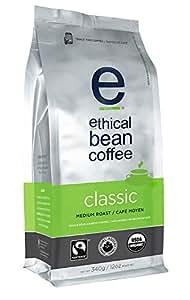 Ethical Bean Coffee Classic, Medium Roast, Whole Bean, 12-Ounce Bag