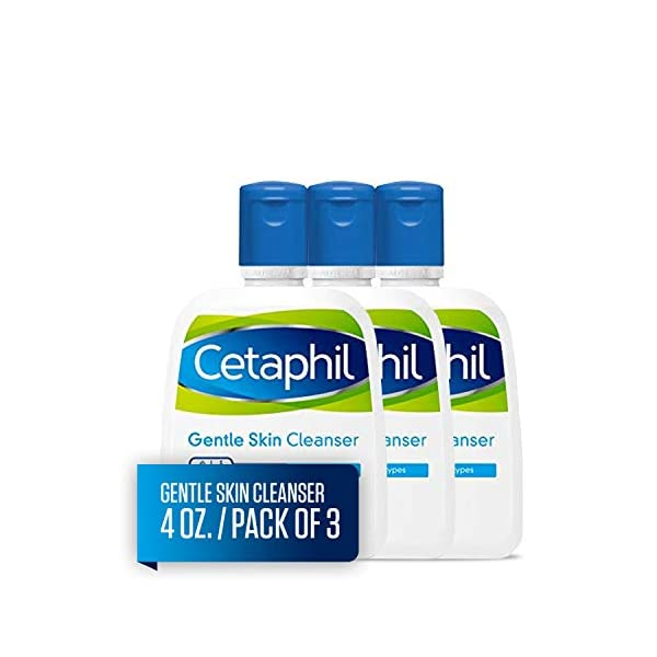 Cetaphil Gentle Skin Cleanser | 4 fl oz (Pack of 3) | Hydrating Face Wash & Body Wash | Ideal for Sensitive, Dry Skin…