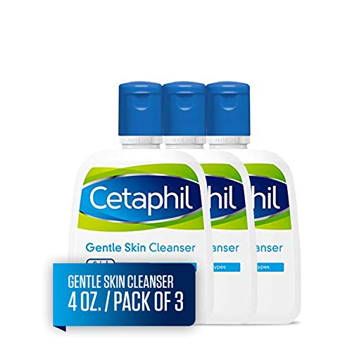 - Cetaphil Gentle Skin Cleanser for All Skin Types, Face Wash for Sensitive Skin, 4-oz. Bottles (Pack of 3)