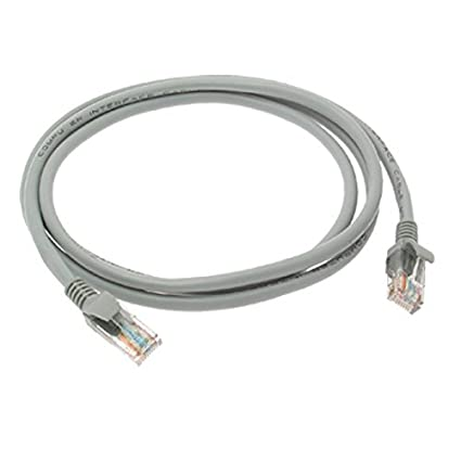 eDealMax red LAN RJ45 Patch Cable CAT5 UTP 1,5 Meter - Gris