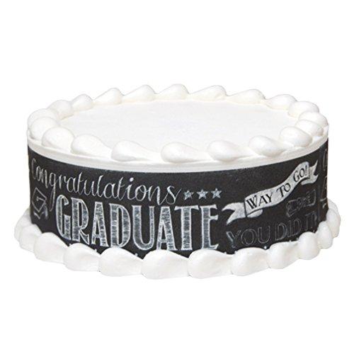 Graduation Chalkboard Edible Designer Print - three on a page