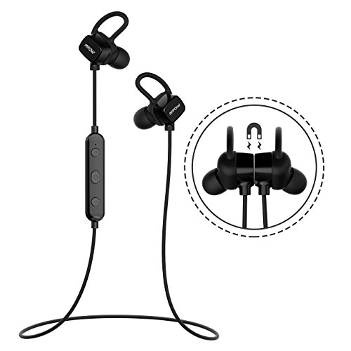 Amazon.com: Mpow S3 Magnetic Bluetooth Headphones, IPX5 Waterproof Wireless Earbuds Sport Running Headphones Noise Cancelling Headsets with Mic, ...