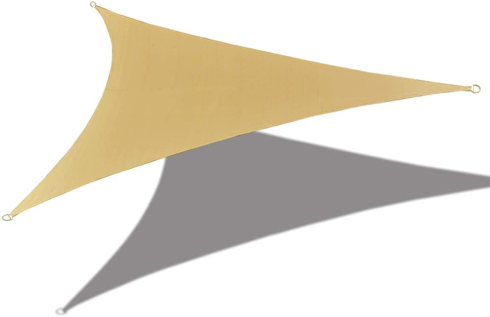 "Alion Home Waterproof Woven Sun Shade Sail - Desert Sand (9 ft 10"" Triangular)"