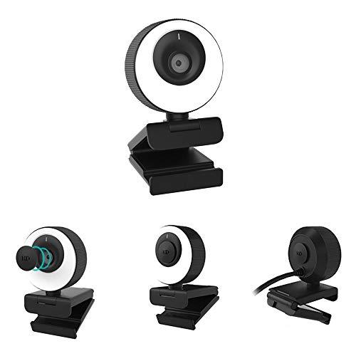 Webcam WB PRO Com Luz Ring Light 60 FPS Full HD 1080p 3 Temperaturas Tampa de Privacidade Magnética Microfone Embutido…