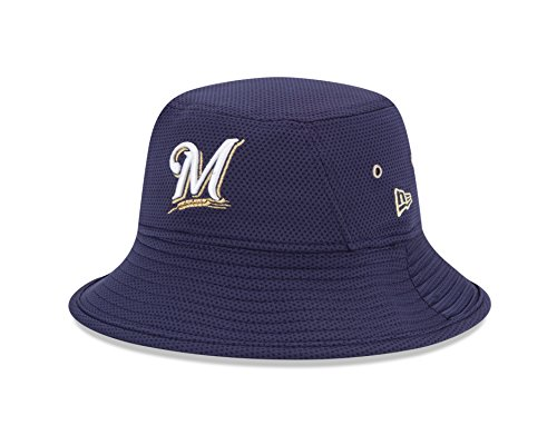 MLB Milwaukee Brewers Team Bucket Redux Bucket Hat, One Size (Milwaukee Brewers Bucket)