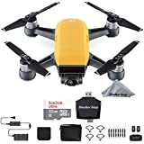 DJI Spark, Fly More Combo, Sunrise Yellow + Sandisk Ultra 32GB Card + USB Card Reader