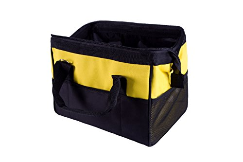 Joyutoy Yellow and Black 14-Inch Pocket Large Big Mouth Tool Storage Bag Tote Tech Bag Tools by Joyutoy