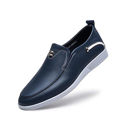 Zro - Vestido Informal Para Hombre Oxford, Plano, Con Metal Azul