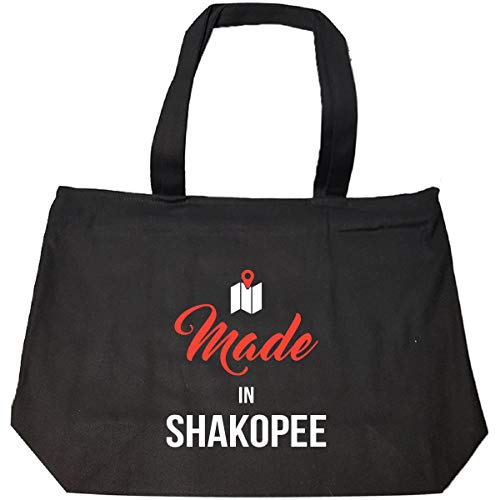 Made In Shakopee City Funny Gift - Tote Bag With Zip -