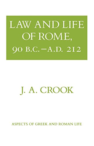 Law and Life of Rome, 90 B.C.–A.D. 212 (Aspects of Greek and Roman Life)