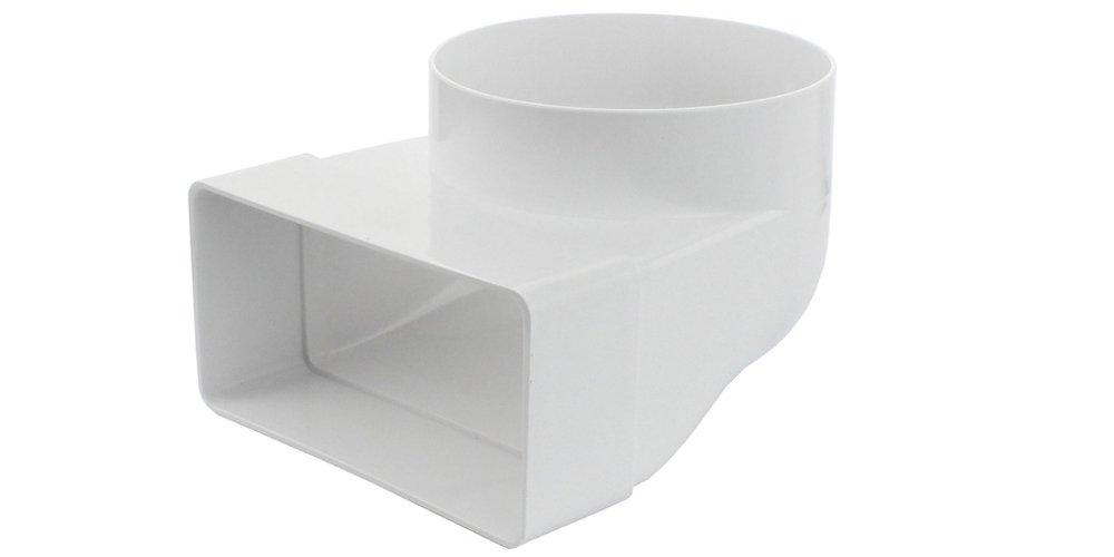 Kanal Rohrverbinder Kanalverbinder /Übergangsst/ück L/üftungskanal Verbindungsst/ück Abluft Zuluft /Ø 125 mm Flachkanal /Übergangsst/ück//Adaptor rund-eckig 150 x 75 mm