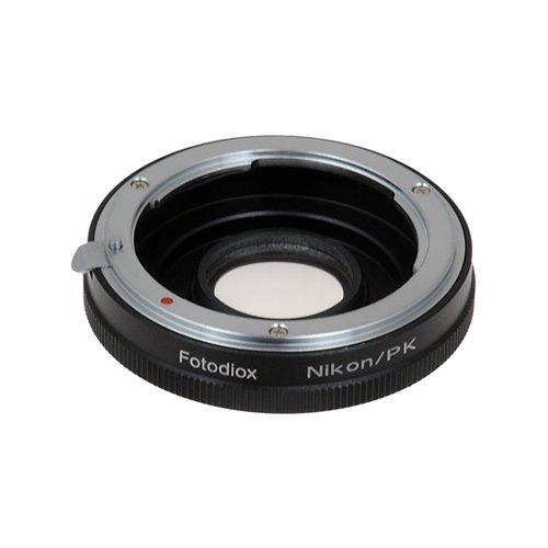 (Fotodiox Pro Lens Mount Adapter - Nikon Nikkor F Mount D/SLR Lens to Pentax K (PK) Mount SLR Camera Body)