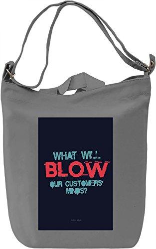 Blow minds Borsa Giornaliera Canvas Canvas Day Bag  100% Premium Cotton Canvas  DTG Printing 