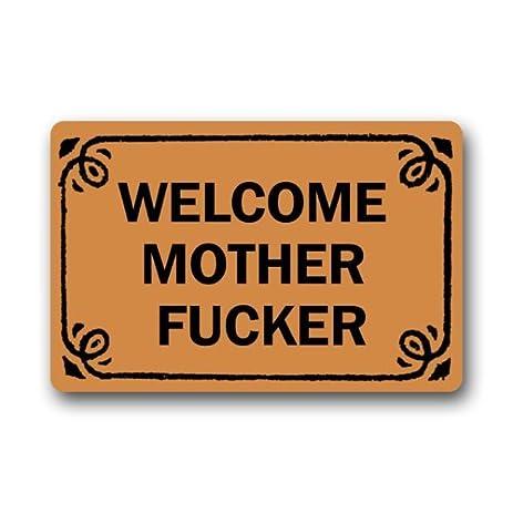 Attractive Funny Rude Saying Doormat, Welcome Mother Fucker Motherfucker Rectangle  Entryways Non Slip Doormat Floor Mat