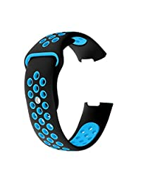 Band for Fitbit Charge 3 for Women Men Exercise Band Soft Silicone Sport Waterproof Watch Bands Small