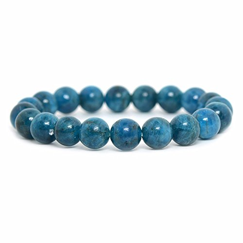 Apatite Mineral - Natural Apatite Gemstone 10mm Round Beads Stretch Bracelet 7