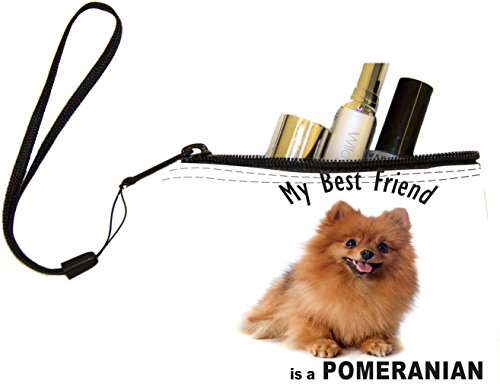Rikki Knight My Best Friend is a Brown Pomeranian Dog Design Keys Coins Cards Cosmetic Mini Clutch (Pomeranian Coin)