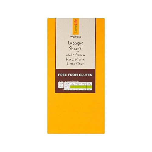 Gluten Free Lasagne Sheets Waitrose Love Life 250g - Pack of 6