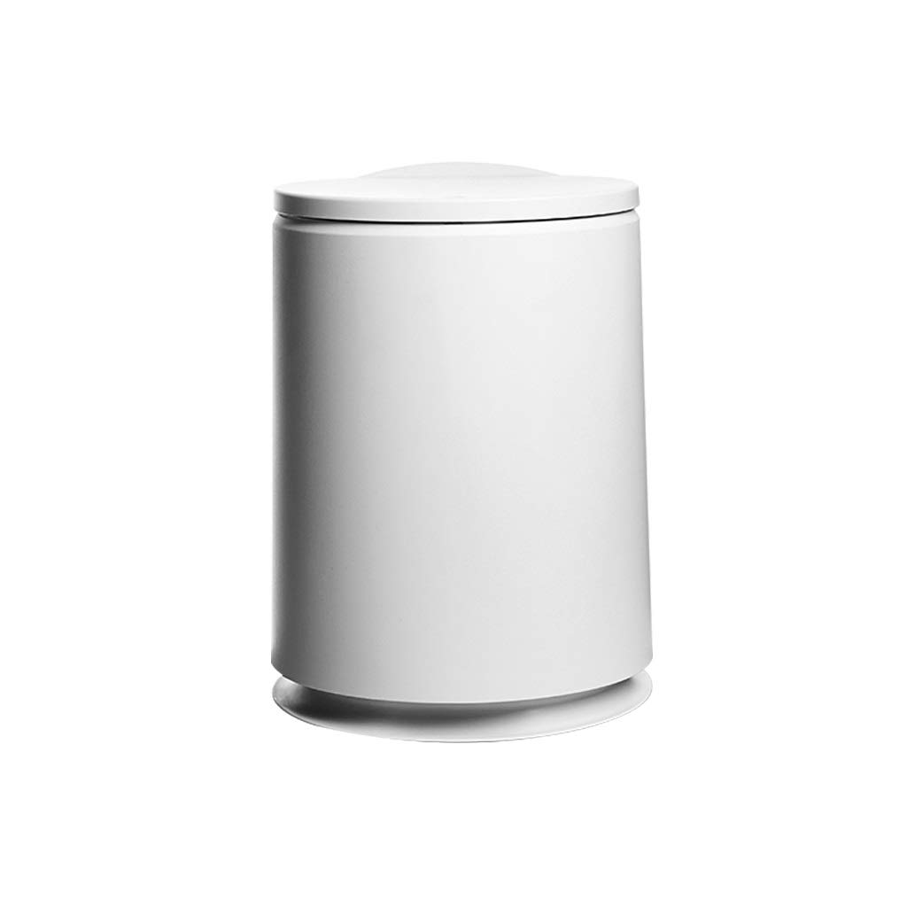 Cunemmo European Trash can with lid Home Nordic Living Room Bedroom Kitchen Bathroom Creative Trash can Small Large Paper Basket by Cunemmo