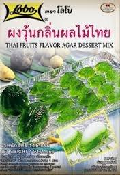 Lobo Thai Fruis Flavour Agar Dessert Mix 115g. (Knox Beef Gelatin)