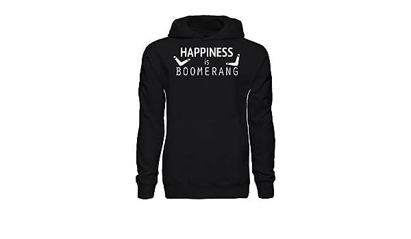 graphke Happiness Is Boomerang Sudadera con Capucha para Hombre Large: Amazon.es: Ropa y accesorios
