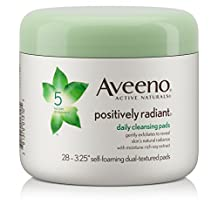 Aveeno Positively Radiant Exfoliating Daily Cleansing Pads, 28 pieces