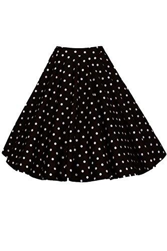Les Femmes Dcollet Jupes Occasionnel Midi Florale Et Solide Vintage Black4